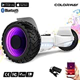 COLORWAY Hoverboard SUV 8''-8.5'' Gyropode Tout-Terrain 700W, Fonction Bluetooth et LED, Scooter...