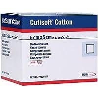 Cutisoft Cotton Kompressen 5x5 cm Steril 12fach, 25X2 St preisvergleich bei billige-tabletten.eu