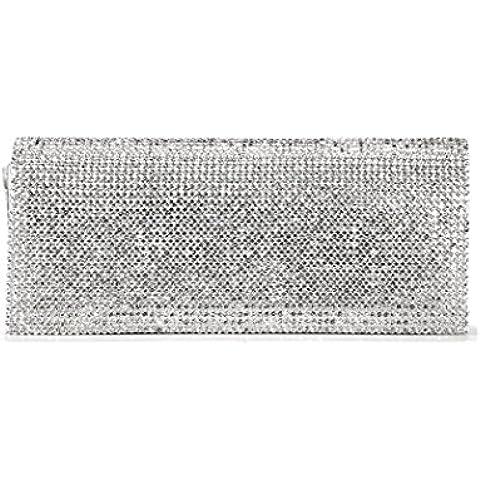 DAYAN Shimmering All-Over Diamante Covered borsa da sera piccola scatola Forma frizione