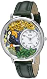 Whimsical Watches Unisex U0150012 Toucan Hunter Green Leather Watch best price on Amazon @ Rs. 1498
