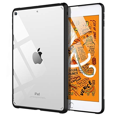 TiMOVO Hülle für New iPad Mini 5th Generation 2019, Transparent Ultra Dünn Vollständig Schutz Klar Cover Stoßfeste Schutzhülle Kompatibel mit iPad Mini 5 2019 - Schwarz