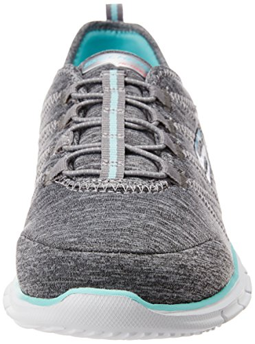 Skechers GLIDERElectricity Damen Sneakers Grau/aqua