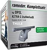 Rameder Komplettsatz, Dachträger SquareBar für Opel Astra G Stufenheck (116017-03878-19)