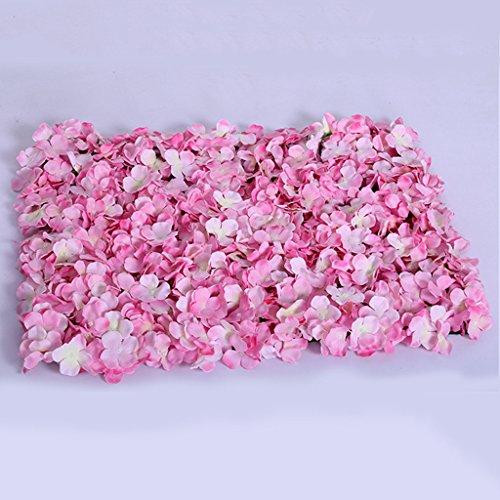 KESOTO DIY Blumenwand Blumensäule Blumenstraße für Hochzeit Bankett und Laden - Rosa