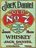 L2239LARGE JACK DANIEL OLD NO. 7WHISKEY VINTAGE STYLE NOSTALGIC Werbung Metall Wand Schild retro Art