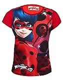 Miraculous Ladybug Camiseta de Manga Corta - para Niña Rojo Red 962-375 4 Años