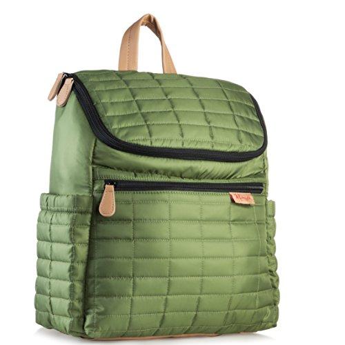Wickeltasche Rucksack mit Kinderwagengurten Wickelrucksack für Damen, Herren, mit passender Wickelunterlage. -