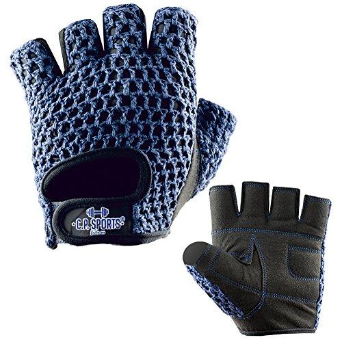 C.P. Sports Fitness Handschuh Klassik Trainings Handschuhe farbig XS/6 = 14-16cm blau