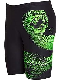 """Zoggs Cobra Mid Jammer - Bañador para niño (Tejido ecológico), Not Applicable, Cobra Mid Jammer, Niños, Color Negro/Verde, tamaño 25"""" (10-11 Years)"""