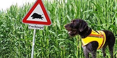 HUNDE-SIGNALWESTE Reflektorweste Hunde-Warnweste AKAH Dackel und Terrier
