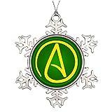 dobend groß Weihnachtsbaum Schneeflocke ornaments Atheist Symbol Schneeflocke Dekorationen