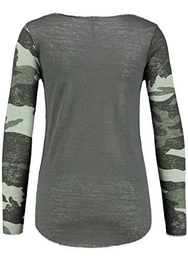 Key Largo Damen Langarmshirt WLS JOURNEY Longsleeve Camouflage Look Vintage Style Anthrazit