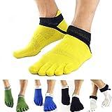 #1: Electroprime® Pair Men's 5 Toe Socks Five Finger Sports Socks Breathable Comfortable Blue