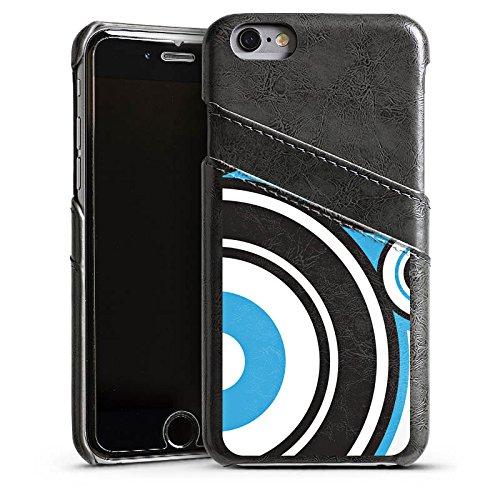 Apple iPhone 4 Housse Étui Silicone Coque Protection Cercles Motif Motif Étui en cuir gris