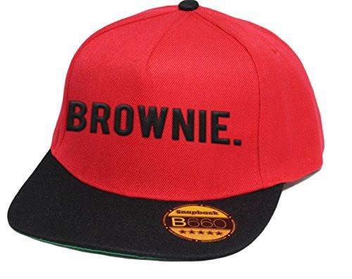 simpleandsweet Brownie, Snapback Cap, 5 Panel/Redblack