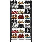 Ebee Easy to Assemble & Light Weight Foldable 8 Shelves Shoe Rack