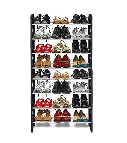 Ebee Easy To Assemble & Light Weight Foldable 8 Shelves Shoe Rack