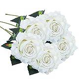 Schön Unechte Blumen, Sonnena 5 Stück Gefälschte Blumen Rosen Seide Kunstblume Bridal Bouquet Hochzeit Blumenstrauß Party Garten Blumen-Bouquet Hortensie Dekoration Wohnaccessoires (A)