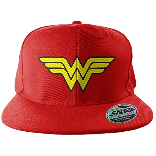Officially Licensed Merchandise Wonder Woman Wings Adjustable Size Snapback Cap (RED)