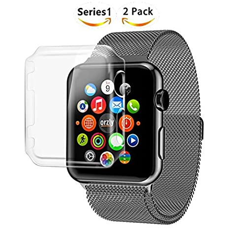Apple Watch 2 case,SINCETOP Luxury Ultra-Thin Design Apple Watch Series 2 Case, 2PCS Clear Crystal Hard Plastic Case Transparent Screen Protector PC Cover for iphone Apple Watch, Lifetime Replacements Series 2 38mm i Watch Case (S1W-4210)