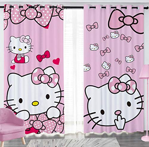 Llkjd tenda sospesa tenda oscurante cameretta rosa hello kitty cartoon @ w66 * l72