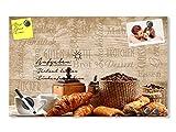 GRAZDesign 501630_60x40_GL_MT Glas-Magnettafel für Küche | Memo-Board Frühstück Braun Kaffee | beschreibbar und magnetisch | Magnetwand für Notizen (60x40cm)