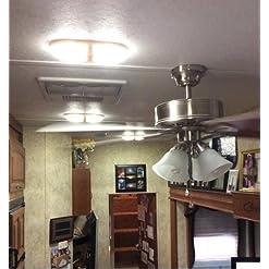 Kohree Lampade LED 12V RV 600 LM Lampada da Soffitto con Interruttore Plafoniere Tettuccio Illuminazione interna per auto/Rimorchio/camper/barca Luce Bianco naturale 4000-4500K 48 x 5050 SMD