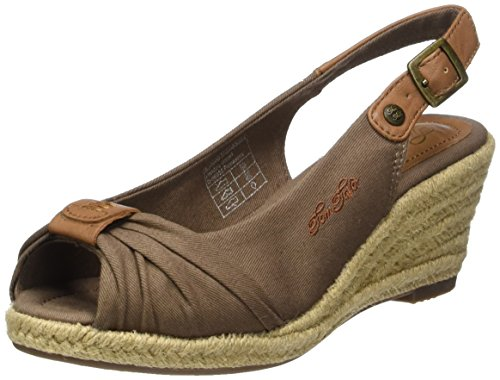 Tom Tailor 2790901, Sandales Bride Arriere Femme Marron (mud)
