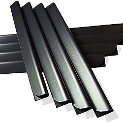 M-Tec Klemmschienen für Sichtschutzstreifen 36 Stück Anthrazit