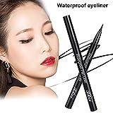 Eyeliner liquide Waterproof Eyeliner,Crayon pour Les Yeux Waterproof Longue Tenue,Séchage Rapide Precise Eyeliner Pencil Pen,Marron/Noir 2pcs