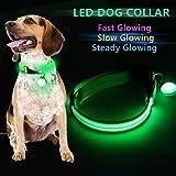 Buluri Hundehalsband 3 Modi Helle Halsbänder für Ihren Hund einstellbar