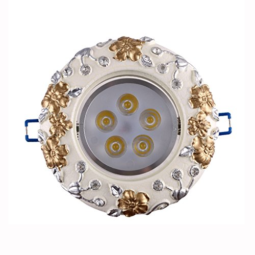 Wddwarmhome Rétro Spotlights Led Couloir Lights 5W Plafonniers Downlight Sculpté Artisanat Blanc 2 pcs