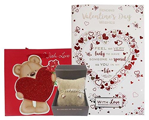 quelqu'un de spécial carte Bracelet Teddy avec Amour Sac cadeau Saint-Valentin Ensemble