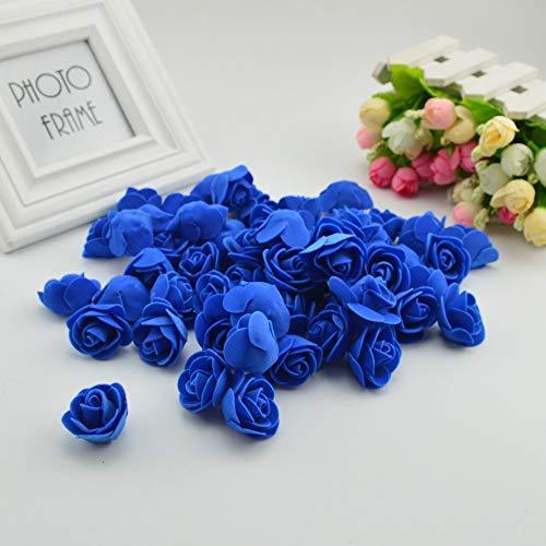 FUIY Künstliche Blume 50 Stücke Günstige Mini Künstliche Blumen Für Zuhause Hochzeit Dekoration Zubehör Gefälschte Bären Sammelalbum DIY Kranz Hand Royal Blue (Gefälschte Blumen Royal Blue)