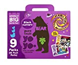 Bear Nibbles Pure Blackcurrant Fruit Yoyo, (Pack of 9)