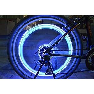 Tookie colorato rotella valvola della luce, 5paio LED flash–Kit luci, luci ruota di bicicletta, impermeabile per auto bici