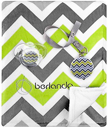 berlando-3in 1Unisex Baby Geschenk-Set sind, sind Decke, passende (Avent Marke) Schnuller, und die Koordinierung Befestigung Clip, # 1Ökotest für Baby-Dusche und Neugeborenen Geschenk-Sets.