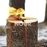 NOOR Schwedenfeuer Schwedenfackel Höhe 25 cm Durcmesser 17-24 cm Flammender Outdoor-Spass bis zu 4 Stunden