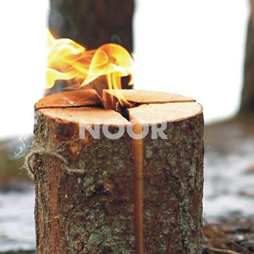 *NOOR Schwedenfeuer Schwedenfackel Höhe 25 cm Durcmesser 17-24 cm Flammender Outdoor-Spass bis zu 4 Stunden*