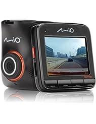 Mio MiVue 518 Dashcam Videokamera für Auto mit GPS-Funktion, F2.0 Objektiv, 140 Grad Weitwinkelkamera, 3-Achsen-G-Sensor, Fotomodus und Parkmodus