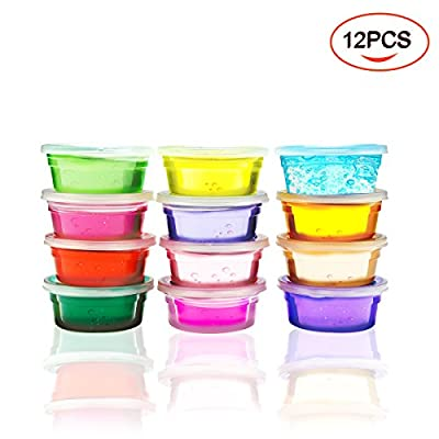 12Pcs Kids Toys Slime/ Children Educational Toys / Crystal Soft Slime ClayChildrens Toys ?12 Color?