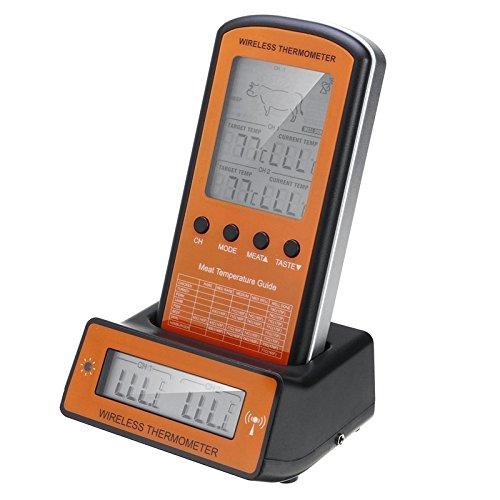 lovinn Wireless Fleisch Thermometer LCD Fernbedienung Dual 2Sonde BBQ Smoker Grill Temperatur Controller -