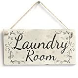 Laundry Room - Handmade Rustic Country Wooden Hanging Door Or Wall Sign / Plaque