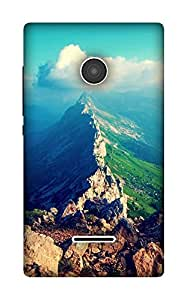 The Racoon Lean blUE SkY hard plastic printed back case / cover for Microsoft Lumia 532