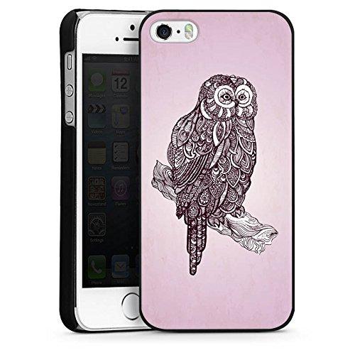Apple iPhone 4 Housse Étui Silicone Coque Protection Hibou Hibou Uhu CasDur noir