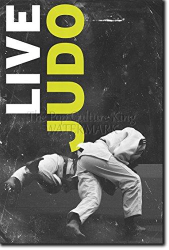 Judo motivacional, póster o afiche. 11 'LIVE JUDO' Lámina original para regalo con cita de motivación impresa en papel de fotografía 30x20 cm Judoka Japan Japanese Kata