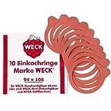10 Weckringe / Einmachringe 94x108mm für Rundgläser