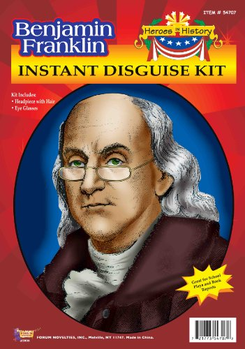 Franklin Kostüm Benjamin - Forum Benjamin Franklin Instant Disguise Kit (Kostüm)