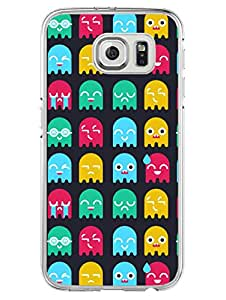 Samsung S6 Edge Plus Cover - Cute Monsters - Colorful Monsters - Designer Printed Hard Case with Transparent Sides