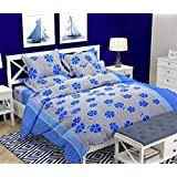 Bedsheet By AVGoods | Double Bed Bedsheet | 3D Double Bed Bedsheet | King Size Bedsheet| Bedsheet 6x6 Size| Floral And Checkered 140 TC, Polycotton Double Bedsheet With 2 Pillow Covers